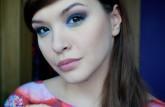 Makijaż w niebieskich odcieniach :)